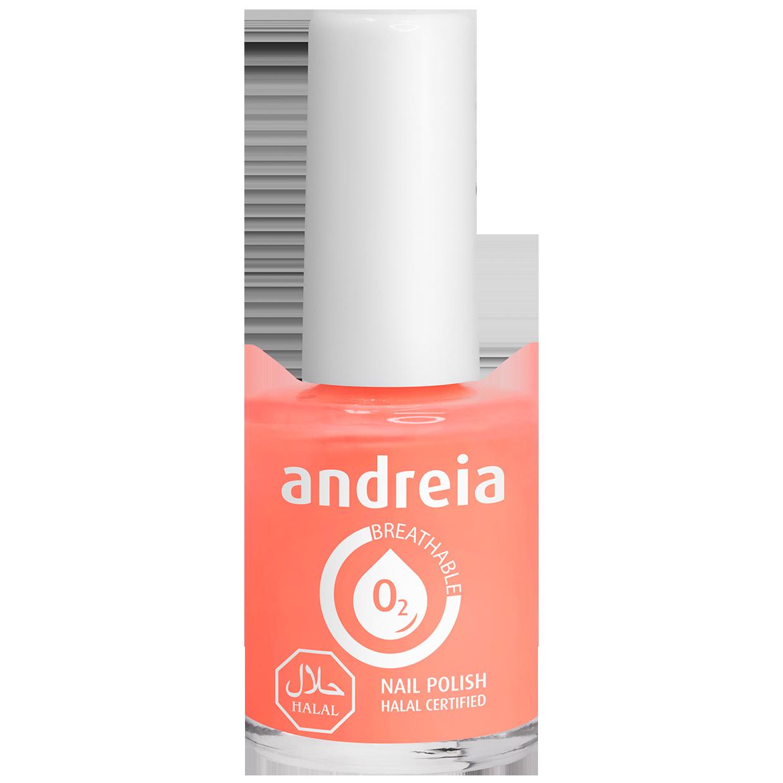 Andreia Halal Breathable Nail Polish Varnish Water Permeable B5 Coral 10 Ml Nail It Like A Pro